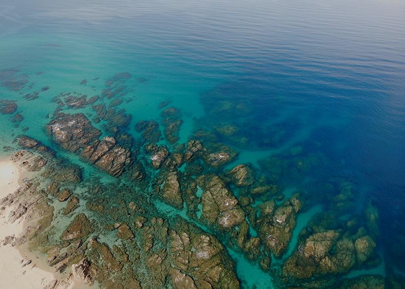 Les eaux cristallines de la baie d'Ajaccio