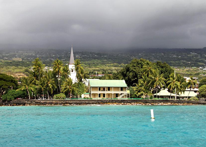 Centre historique de Kailua Kona à Big Island