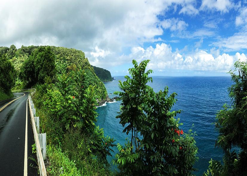La route côtière de Hana sur l'ile de Maui