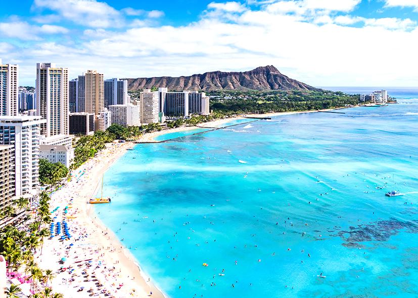 Panorama sur Diamond Head à Honolulu