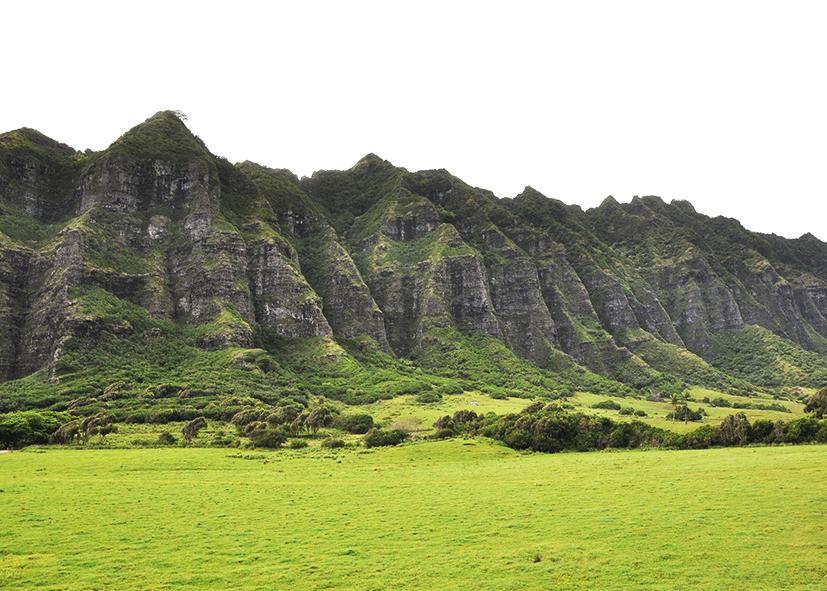 Paysages de Kualoa Ranch sur l'ile d'Oahu