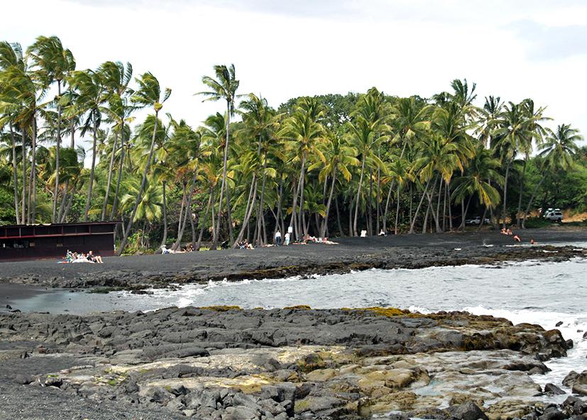 Plage volcanique de Hilo