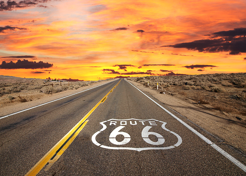 Route 66, direction Tulsa