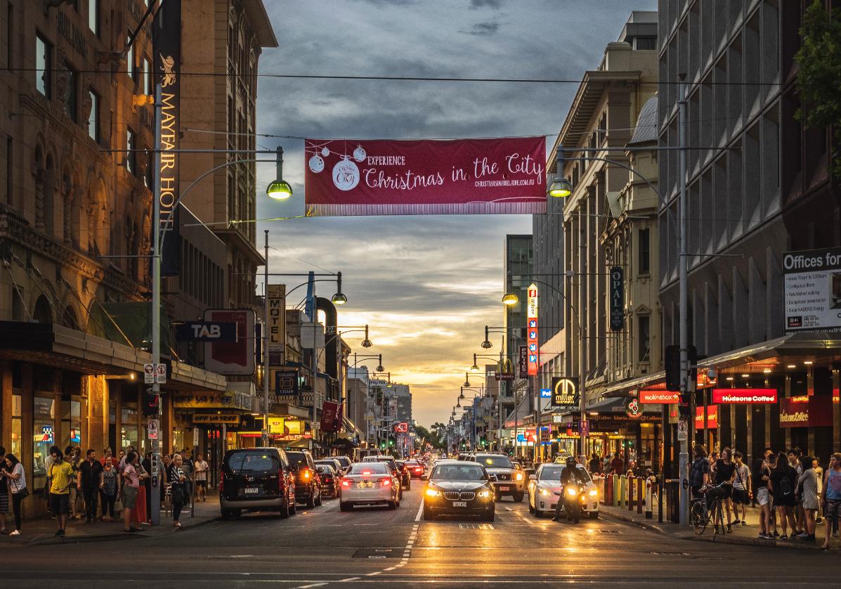 Tour de ville à Adelaide