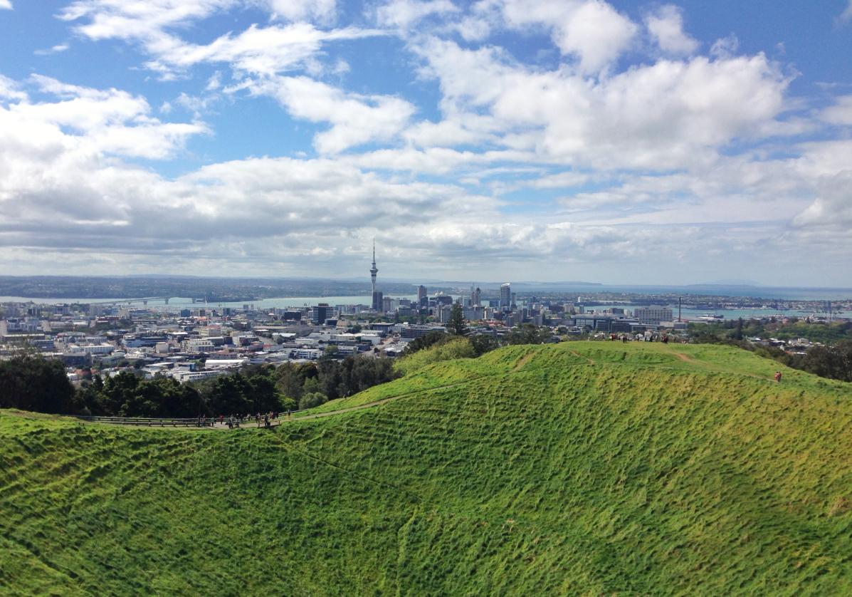 Panorama sur Auckland depuis le Mont Eden