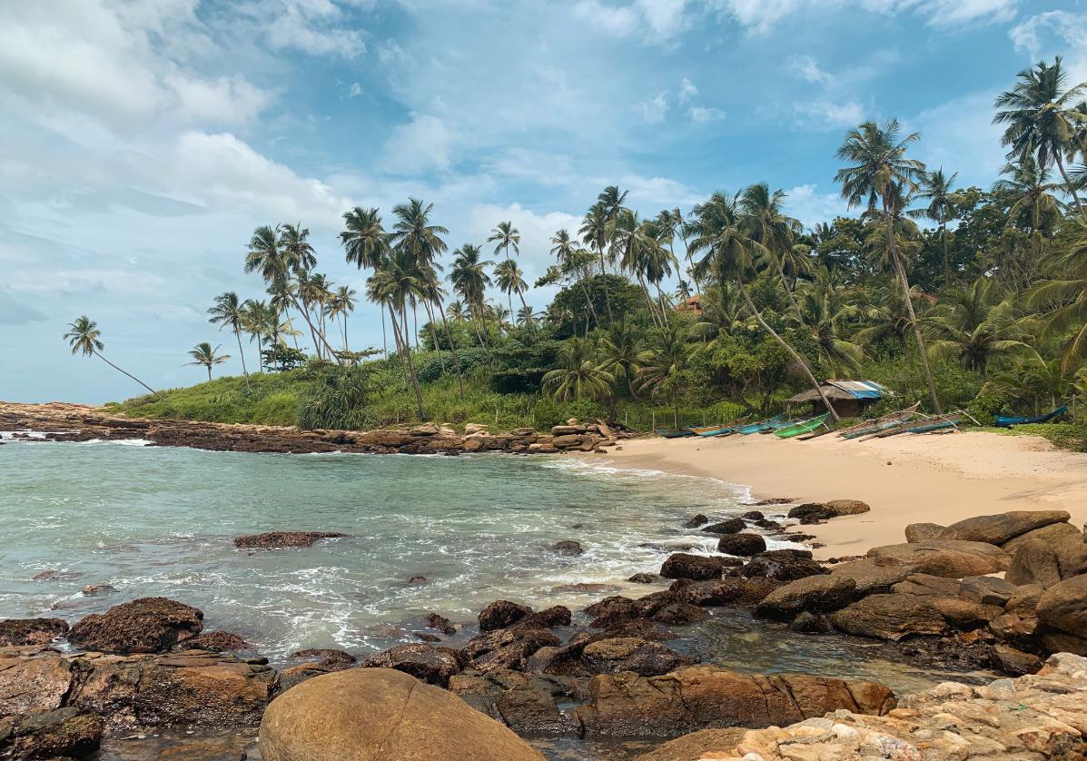 Unawatuna plage sur l'océan indien