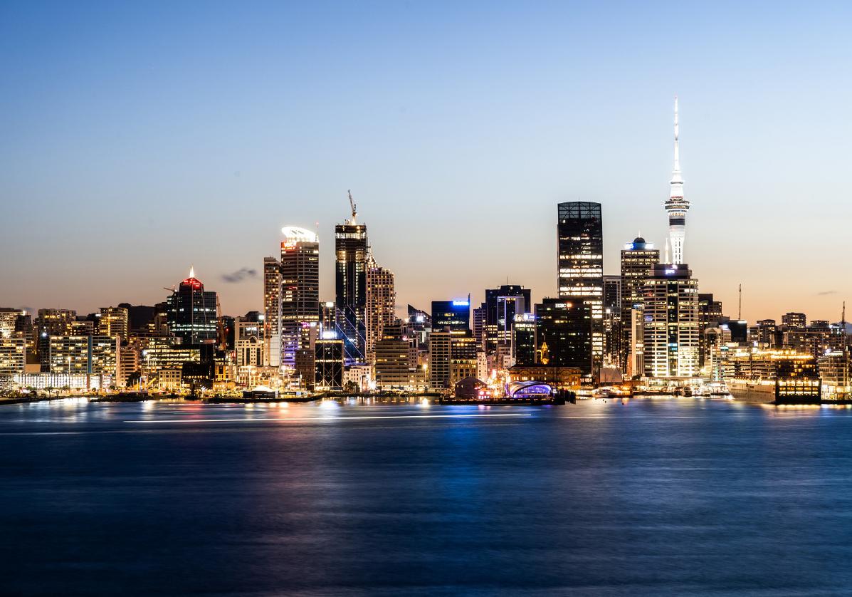 Arrivée à Auckland