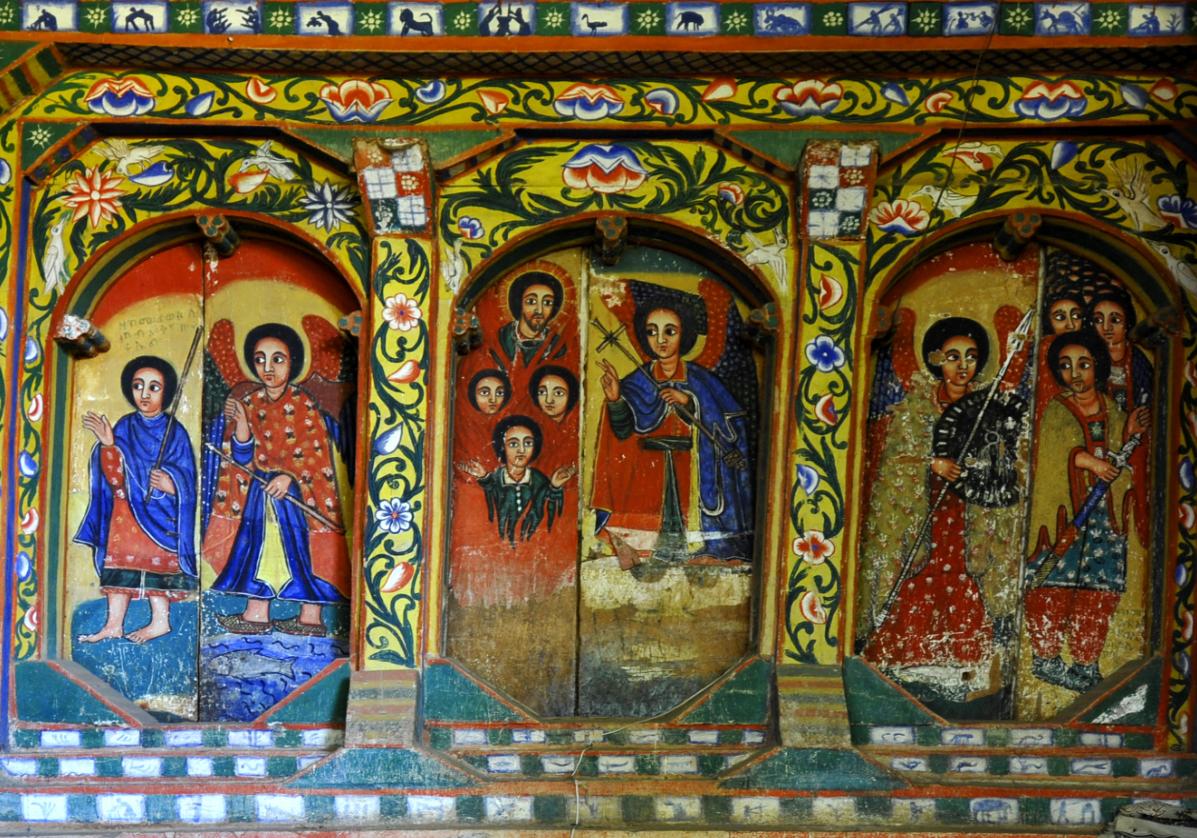 Bahir Dar et les fresques du monastère Urakidane Mihret
