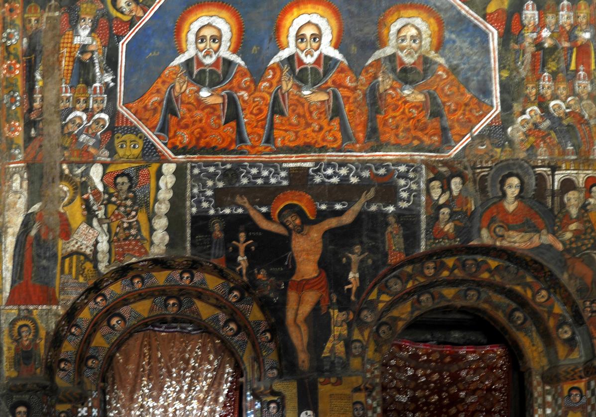 Fresques de l'église Abreha Atsbeha