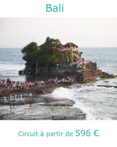 Coucher de soleil sur le Temple de Tana Lot, partir à Bali au mois de mai avec Nirvatravel