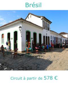 Rue pavée du centre historique de Paraty, partir au Brésil en novembre avec Nirvatravel