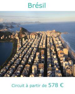 Vue aérienne d'Ipanema à Rio de Janeiro, partir au Brésil en septembre acec Nirvatravel