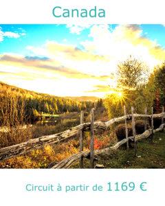 Paysages d'automne d'une forêt canadienne, partir au Canada en octobre avec Nirvatravel