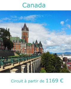 Château de Frontenac à Quebec, partir au Canada en juillet avec Nirvatravel