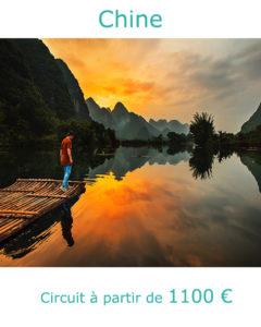 Coucher de soleil sur la rivière Li à Guilin, partir en Chine avec Nirvatravel
