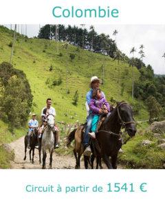 Cavaliers dans la vallée de Cocora, partir en Colombie en juillet avec Nirvatravel