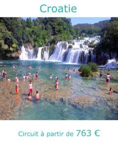 Cascades de Krka, partir en Croatie en juillet avec Nirvatravel