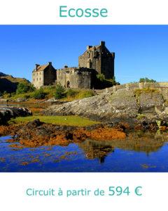 Château au bord d'un lac écossais, partir en Ecosse au mois de mai avec Nirvatravel