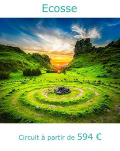 Coucher de soleil sur l'ile de Skye, partir en Ecosse au mois de juin avec Nirvatravel