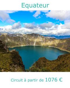 Lac dans le cratère du volcan Quilotoa, partir en Equateur en décembre avec Nirvatravel