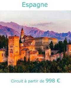 Palais de l'Alhambra à Grenade, partir en Espagne en septembre avec Nirvatravel