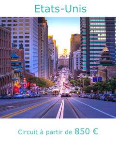 Cable Car dans une rue de San Francisco, partir aux Etats-Unis en octobre avec Nirvatravel