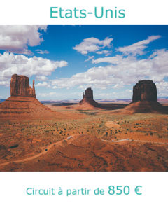 Paysage de Monument Valley dans l'Ouest américain, partir aux Etats-Unis en avril avec Nirvatravel