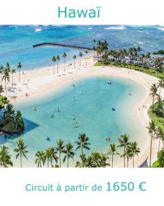 Plage de Waikiki sur l'ile d'Oahu, partir à Hawaï au mois d'aout avec Nirvatravel