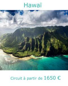 Montagnes abruptes de l'ile de Kaui, partir à Hawaï en avril avec Nirvatravel
