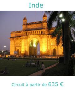 Porte de l'Inde à Bombay, partir en Inde en avril avec Nirvatravel