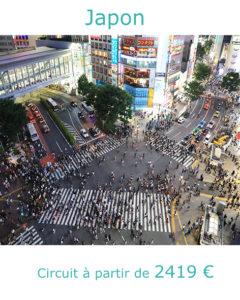 Carrefour de Shibuya à Tokyo, partir au Japon en octobre avec Nirvatravel
