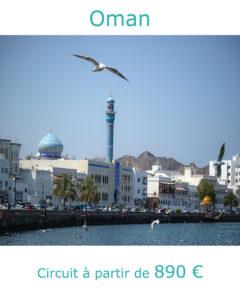 Front de mer de Muttrah à Mascate, partir à Oman au mois de mai avec Nirvatravel