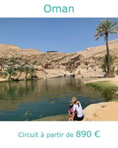 Piscine naturelle de Wadi Bani, partir à Oman en Octobre avec Nirvatravel