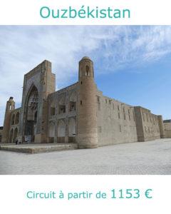 Médersa de Boukhara, partir en Ouzbékistan au mois de mai avec Nirvatravel