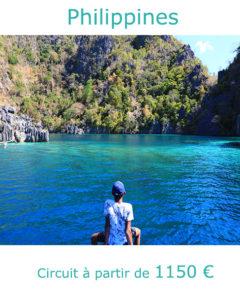 Eaux cristallines de l'ile de Coron, partir aux Philippines en avril avec Nirvatravel