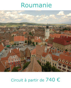 Vue sur le centre de Sibiu, partir en Roumanie au mois d'aout avec Nirvatravel