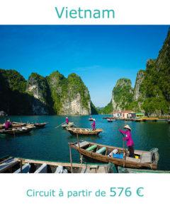 Pecheurs sur la Baie d'Halong, partir au Vietnam en avril avec Nirvatravel